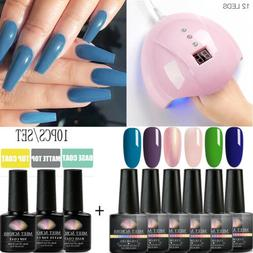 MEET ACROSS 10Pcs/Kit UV Lamp Dryer Nail Gel Polish For Nail