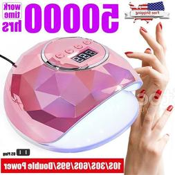 110W Nail Dryer LED Lamp UV Light For Nail Gel Curing Manicu