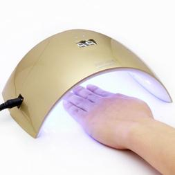 24W Gold UV LED Nail Dryer &Sensor Curing Lamp For Fingernai