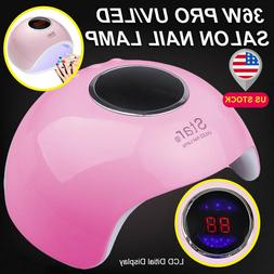 36W Nail Dryer LED Lamp UV Light For Nail Polish Gel Curing