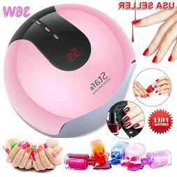 Star 8 36W LED Nail Lamp 3Timer UV Nail Dryer Cures All Gel