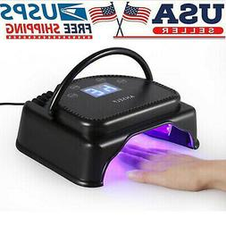 Anself 64W Professional 32 LED Gel Nail Dryer Lamp Curing Ma