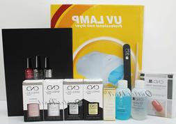 GEL FRENCH MANICURE STARTER GIFT KIT: 2 CND Shellac Colors +