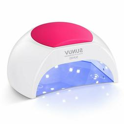 SUNUV SUN2C 48W LED UV nail Lamp with 4 Timer Setting,Senor