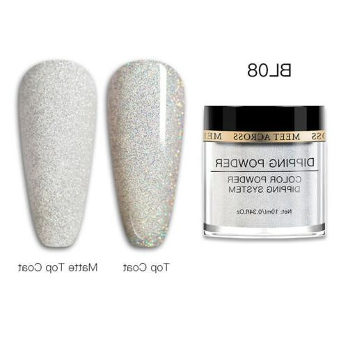 MEET ACROSS Dipping Nail Powders UV Without Cure