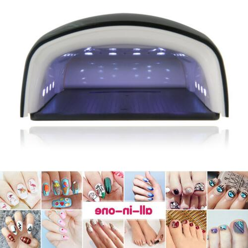 Black 48W Rechargeable Quick-Drying Nail Polish UV LED