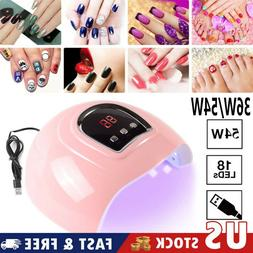 LED UV Nail Gel Polish Dryer Lamp Smart Sensing Manicure Mac