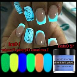 NICOLE DIARY Luminous Dipping Powder Nail Glitter Decoration