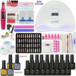 Manicure Pedicure Set Kit With Led Uv Nail Lamp 54W 84W Gel