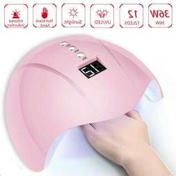 36W Nail Dryer LED Lamp Light for Nails Polish Gel Machine E