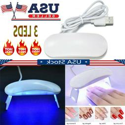 Nail Dryer Mini LED Lamp UV Light for Nails Polish Gel Machi