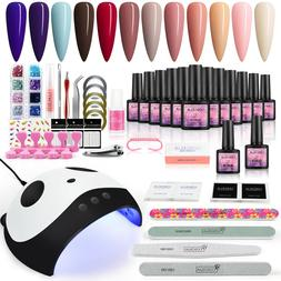 Poly Gel Nail Gel Polish Kit 80W Nail Dryer Lamp Nail Drills
