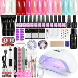 Poly Gel Nail Kit LED UV Nail Gel Polish  Dryer Lamp Manicur