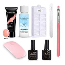 Poly Gel Varnish Nail Polish Set With Lamp  Quick Building P