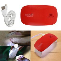 Red Portable 6W Mini UV LED Lamp USB Charge Gel Polish Curin