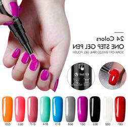 Saviland 3 In 1 One Step Nail Gel Polish Nail Pen Long-lasti