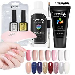 US DIY Poly gel Set Top Base Coat UV Gel Dual-Forms For Exte