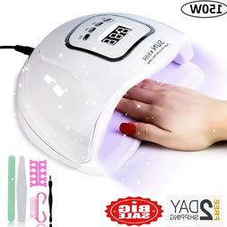 UV Nail Lamp 150W UV LED with 4 timer for Gel Polish with Ki